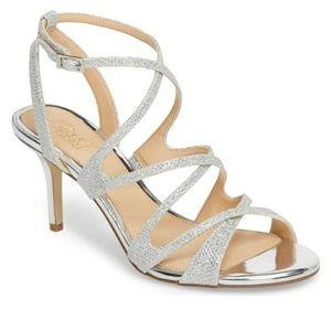 Badgley Mischka Glitter Sandal